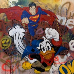 street art superman donald metis bordeaux