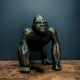 sculpture métal gorille metis bordeaux