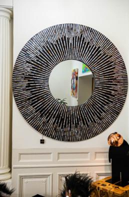 Grand Miroir métis bordeaux