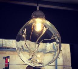 luminaire en verre Métis Bordeaux