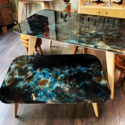 tables résine métis bordeaux