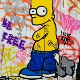 Fat, Bart tag 2020, Street art
