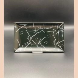 COUPELLE NOIRE LYNE - assiette porcelaine - lyne fromiga - pièce unique