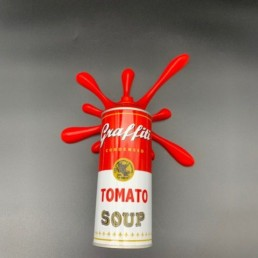 SPLASH ROUGE - 2fast - tomato soup - street art