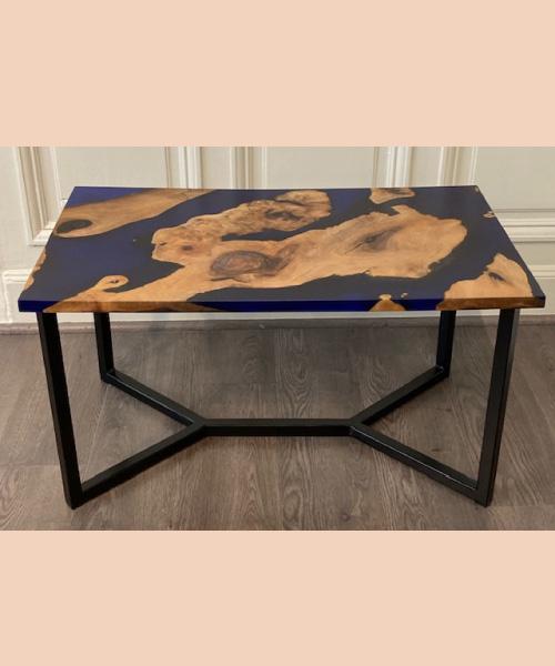 Table-bleue noyer - modum - ébénisterie