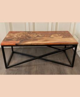 Table-cuivre-noyer - modum - ébénisteri