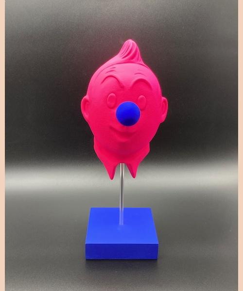 Tintinade Rose - Di Lorenzo - sculpture faience