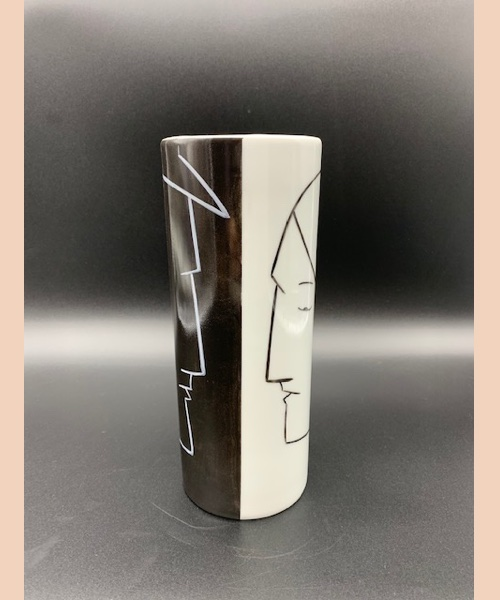 Vase CR - lyne fromiga - porcelaine