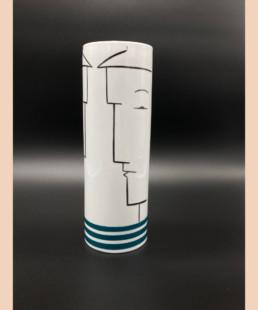 Vase CB - lyne fromiga - porcelaine