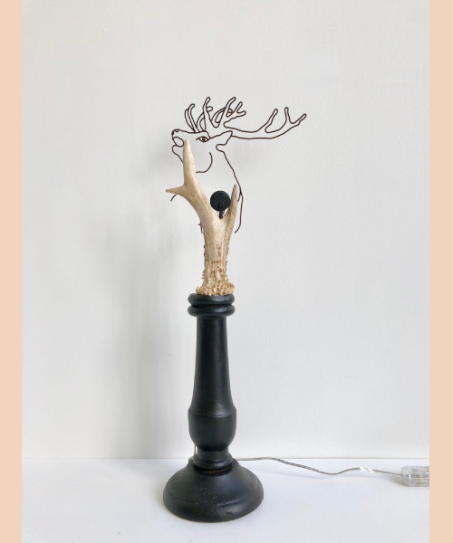cerf - B.Vieubled - ombre portée