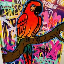 Donald parrot - Fat - STREET ART 2020