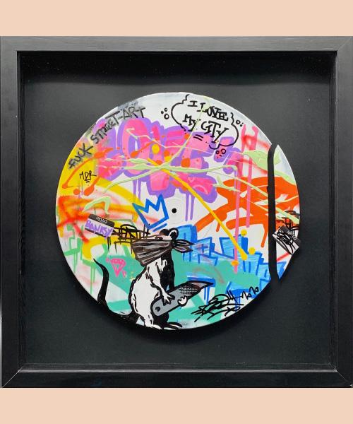 Fat Banksy, Fat, street art, 2020