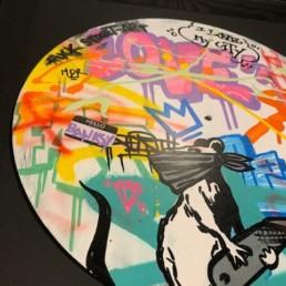 fat banksy, oeuvre street art 2020