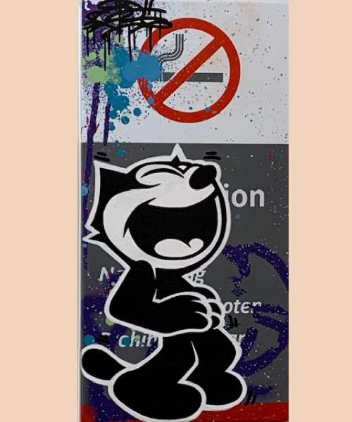 Félix le chat par fat, oeuvre street art 2020