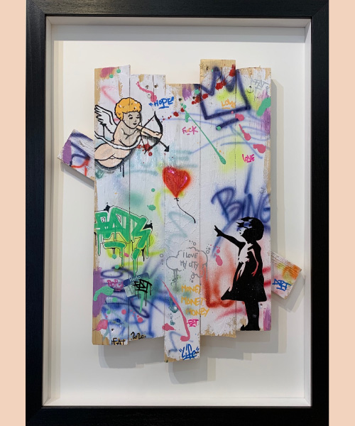 La fille au ballon, Fat, street art, 2020