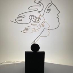 hommage à Cocteau doré - b vieubled - ombre portée