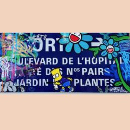 Jardin des plantes par fat, oeuvre street art 2020