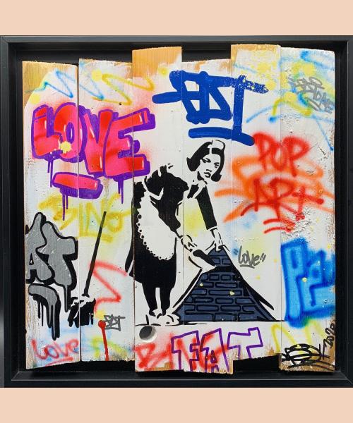 maid - fat - street art