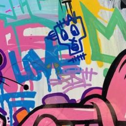 Fat pink panther - fat - street art
