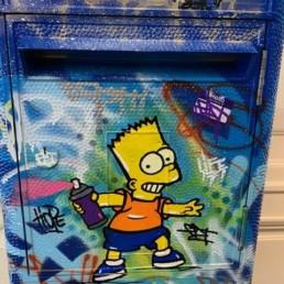 La paix de Bart - Fat - street art