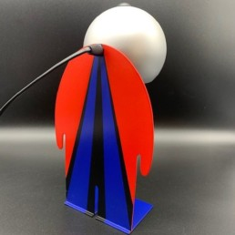lampe toto design bleu rouge - toto - lampe design