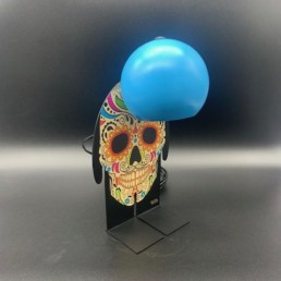 BLUE SKULL TOTO - petit toto lampe design - tête de mort