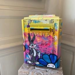 BUG BUNNY - boite aux lettres fat - bugs bunny - pièce unique - mailbox