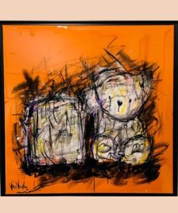 valise ourson KiKo- popart-street art-