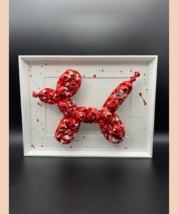 KOONSKULL - vl artiste - koons dog - skull
