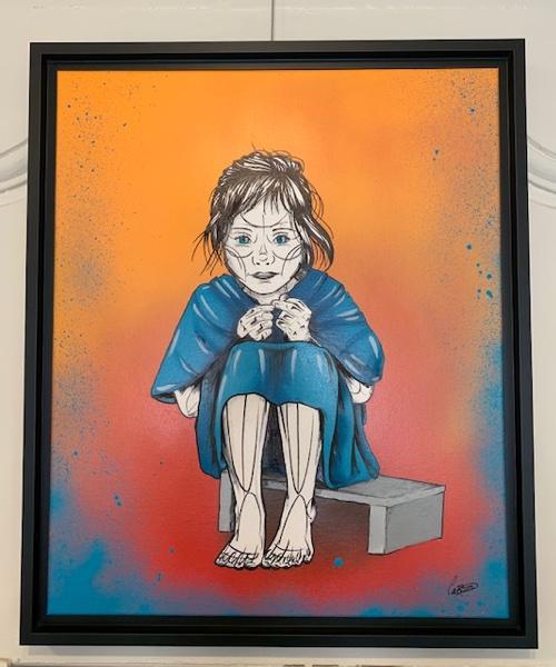 CHILDHOOD - caro graffitart - pièce unique