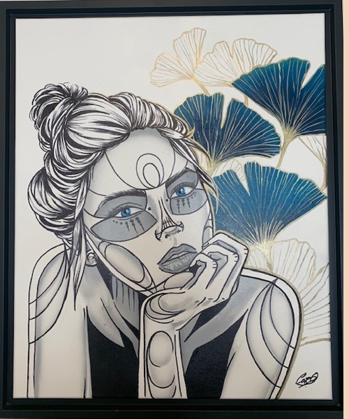 GINGKO - CARO GRAFFITI ART - pièce unique