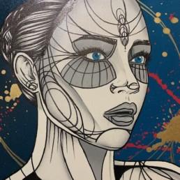 EMERSION - caro graffiti art - pièce unique