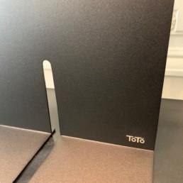 TOTO ROUGE NOIR - lampe design toto - pièce unique