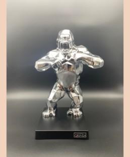 KONG ARGENT - kiwikong métallisé argent - pièce numérotée Orlinski