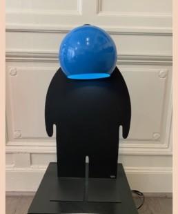 TOTO BLEU noir - toto - pièce unique - lampe design