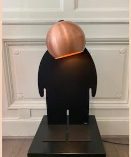 TOTO CUIVRE poli - toto lampe design - pièce unique