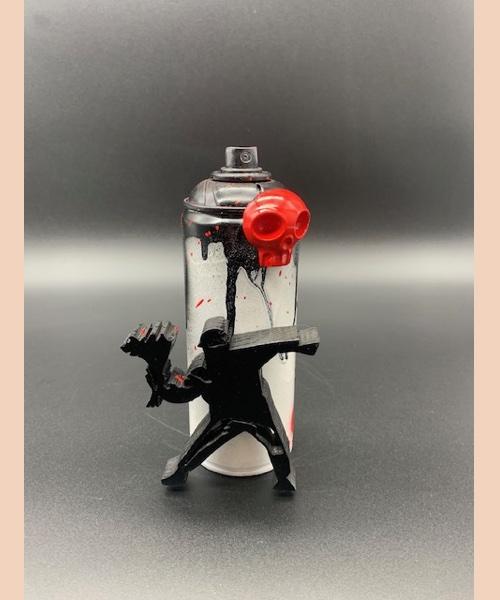 BOMBE BANKSY FLOWER - vl artiste - pièce unique - Banksy