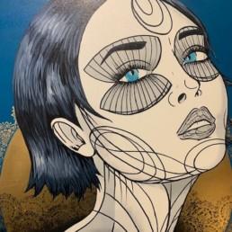 REVIENS - caro graffiti art - pièce unique