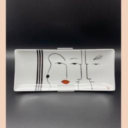 PLAT basques - lyne fromiga - pièce unique - porcelaine peinte