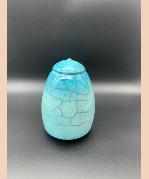 RAKU 5 - gianbattista ferraglio - raku bleu - pièce unique