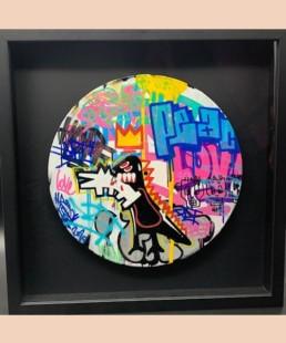 FAT BASQUIAT - fat street art - pièce unique - hommage basquiat