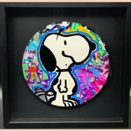 Snoopy I love you - fat pièce unique - street art
