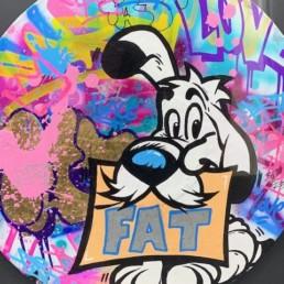 FAT IDEFIX - street art - vinyle fat - pièce unique