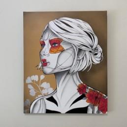 PERSPECTIVE - tableau Caro graffiti art - pièce unique