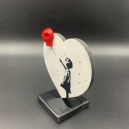 BANKSYSKULL HEART - trophée vl artiste - Banksy