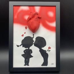 LOVE CHILDREN - cobo - pièce unique coeur