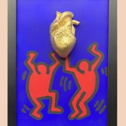 KEITH HEART - cobo -pièce unqiue coeur keith haring