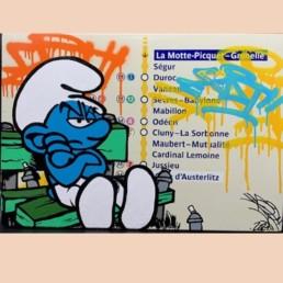 LA MOTTE PICQUET grenelle - artiste fat - pièce unique - plaque émaillée métro parisien