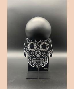 TOTO BLACK SKULL - petit toto tête de mort - lampe design