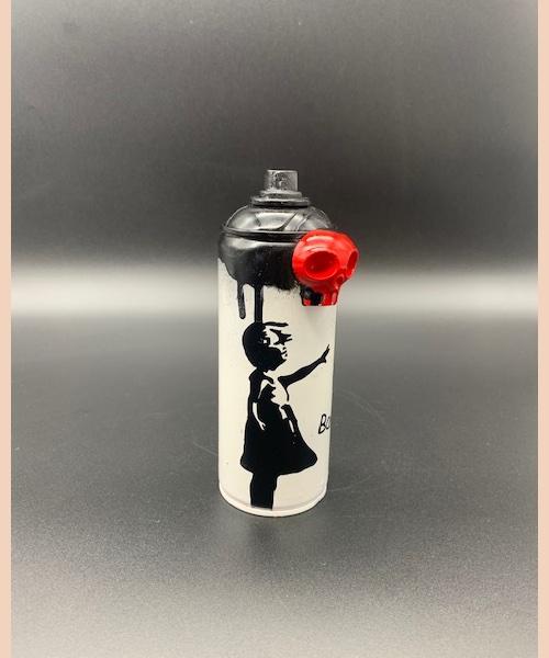 petite fille - banksyskull - vl artiste - Banksy